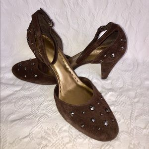 Gianni Bini Dark Brown Suede Heels